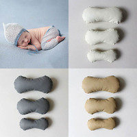Newborn Baby Photography Props Accessories Bone Shaped Posing Pillow Infant Pictures Prop PU Faux Leather Photo