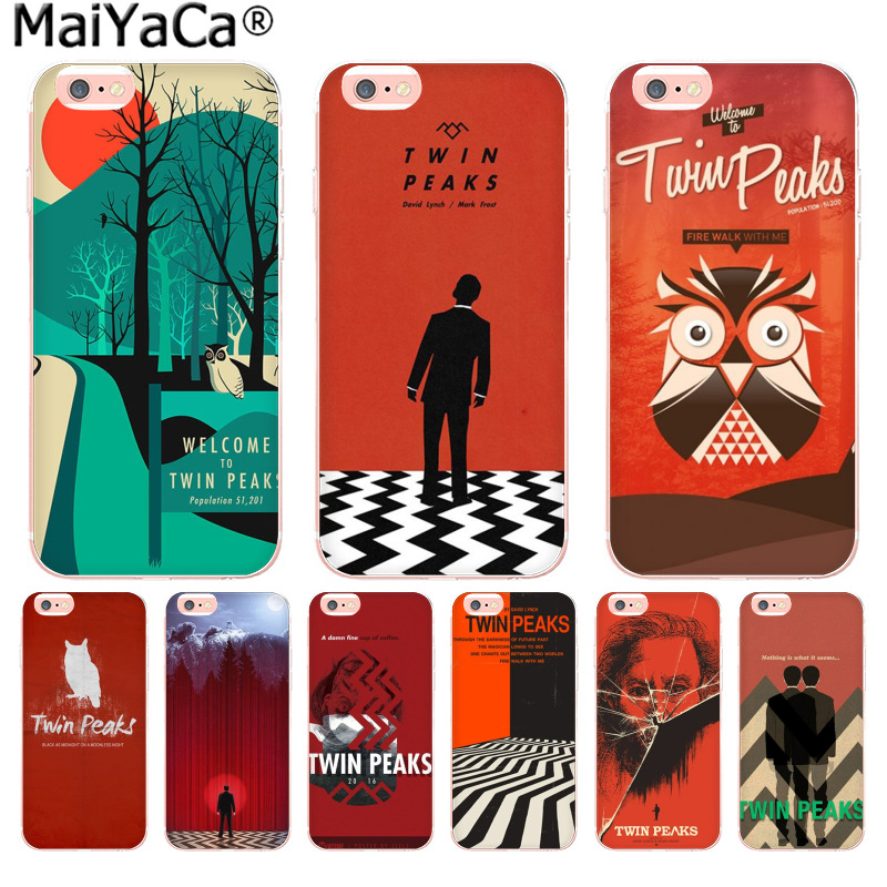 MaiYaCa Welcome To Twin Peaks Luxury TPU Rubber Phone Case cover for Apple iPhone 8 7 6 6S Plus X 5 5S SE 5C 4 4S Mobile Cover