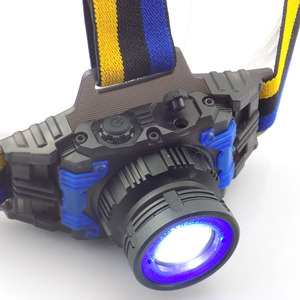 Image 3 - high power Q5 LED Headlamp Flashlight Rechargeable Zoomable Focus Frontale Head Lamp Torch Headlight for Fishing Camping Charger