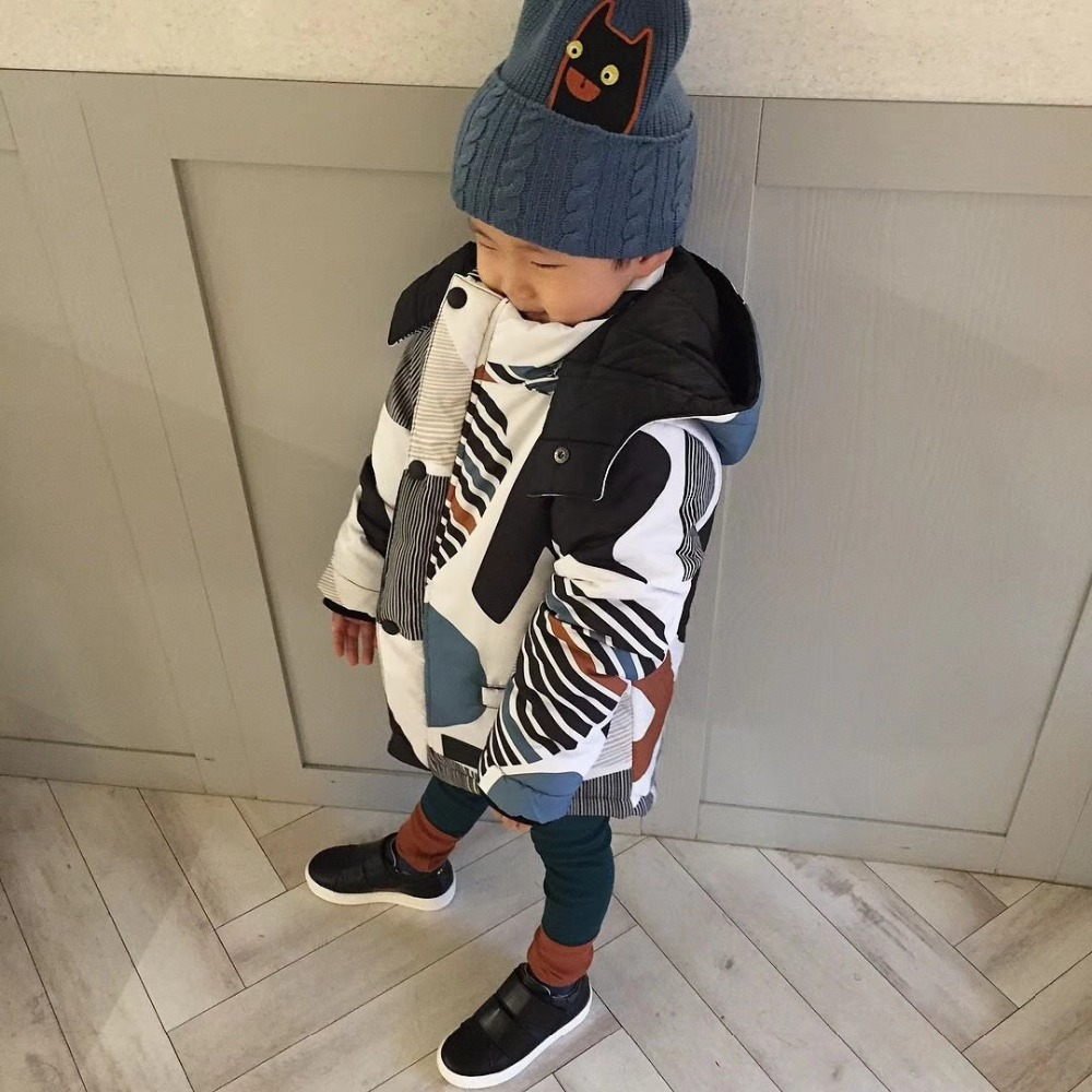 BOBOZONE 2018 NEW WINTER Printed Reversible Anorak FOR KIDS BOYS GIRLS COAT все цены