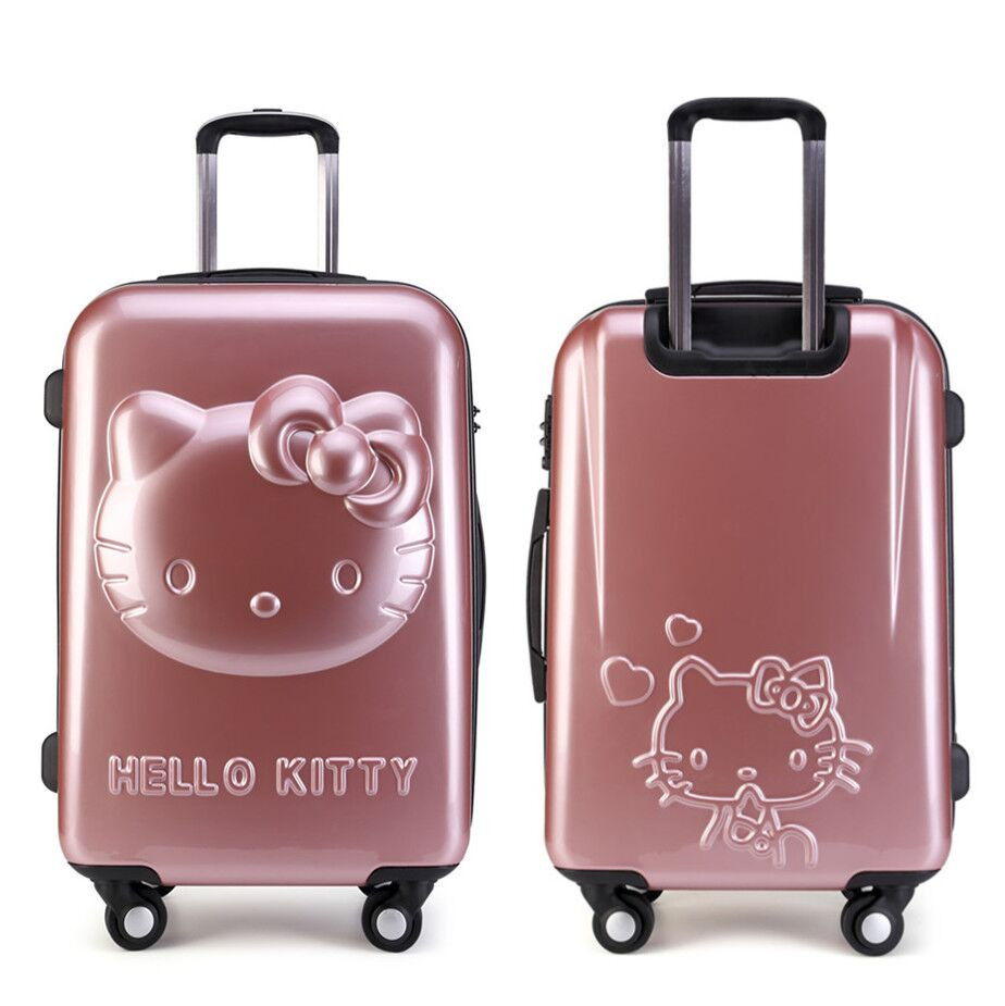 aliexpresscom  buy inch kids hello kitty luggage sets  - aliexpresscom  buy inch kids hello kitty luggage setstrolleybag spinner rolling luggagechildren hello kitty suitcase from reliablehello