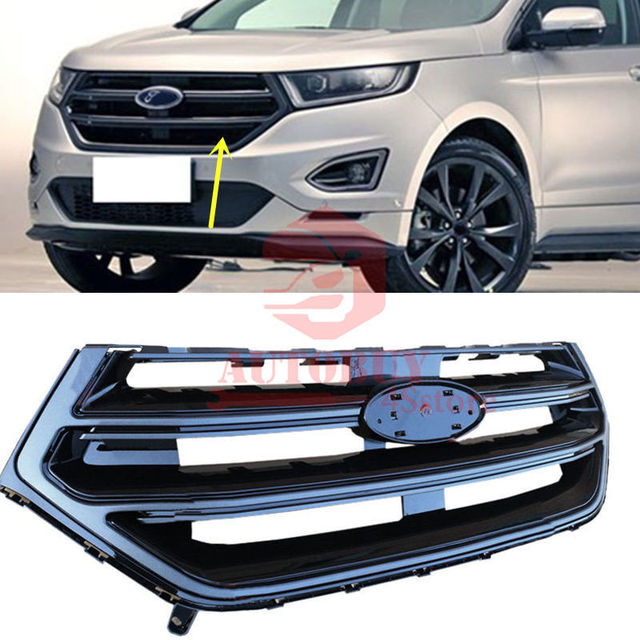 For Ford Edge   Sport Style Abs Plastic Front Hood Middle Grill