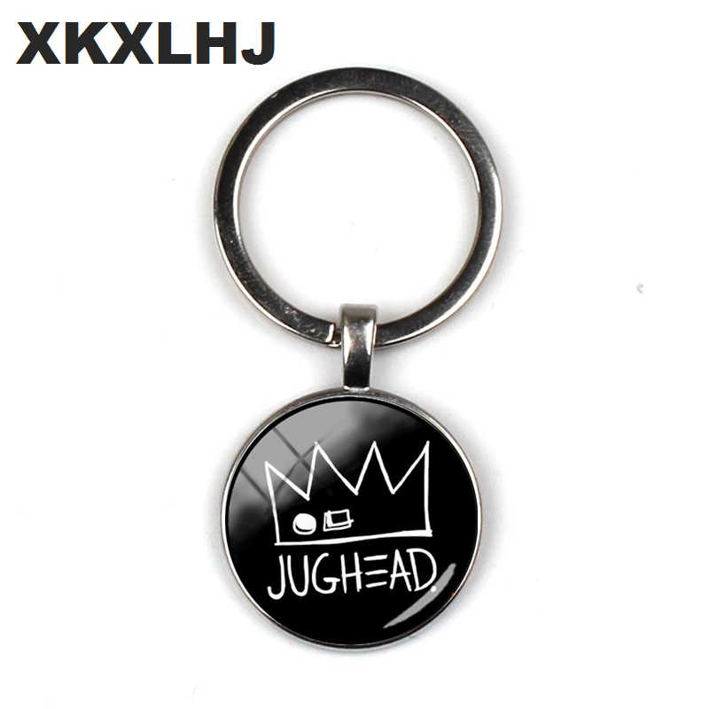 2018 New Jughead Keychain Pendant Riverdale Pendant Mystery Glass Dome Photo Key Chain Silver Crafts Jewelry