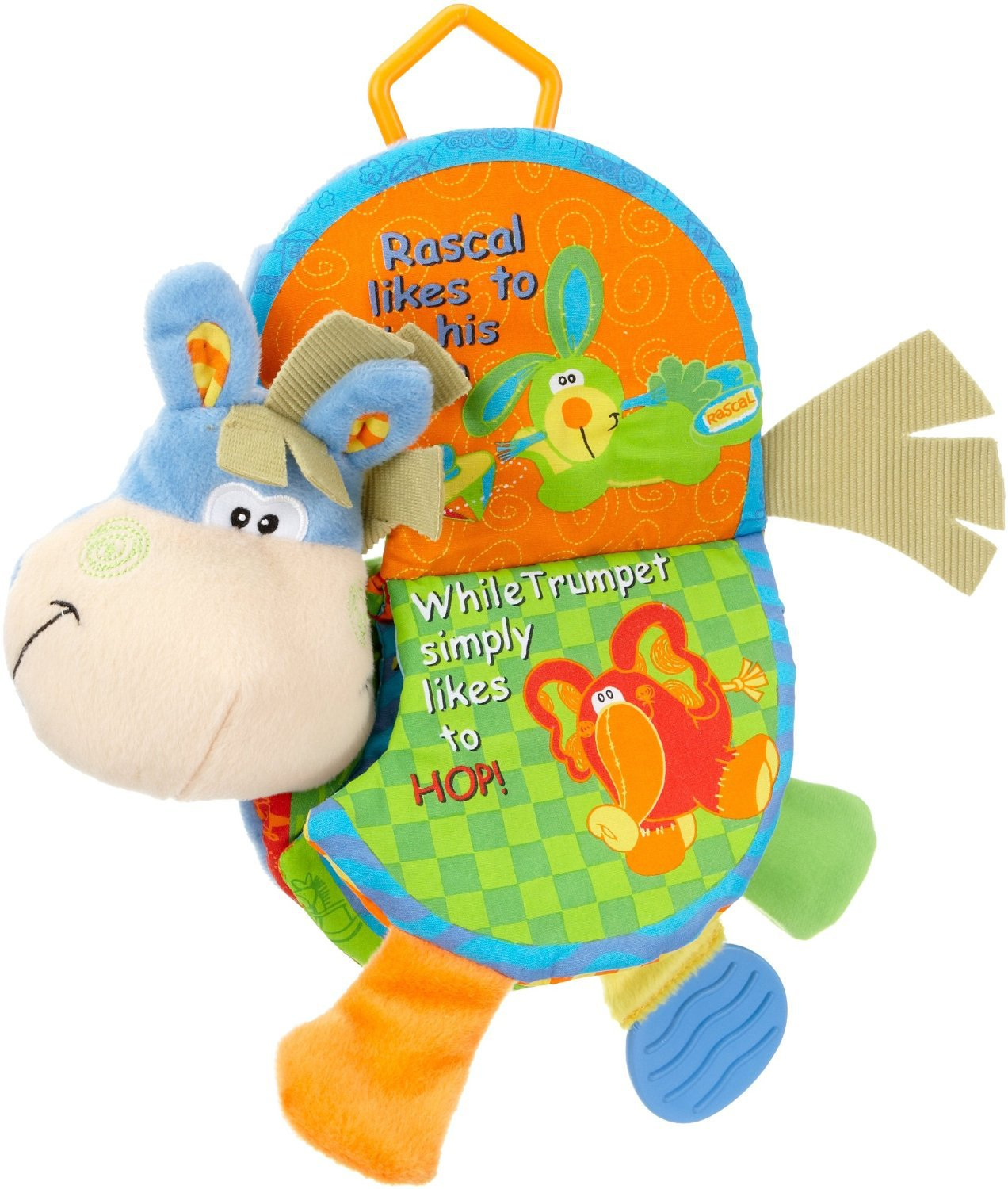 New Cute Donkey Animal Cloth BookBaby Cloth Book Rattles Teether Toys For Toddlers Learning Early Education Toys Christmas Gifts