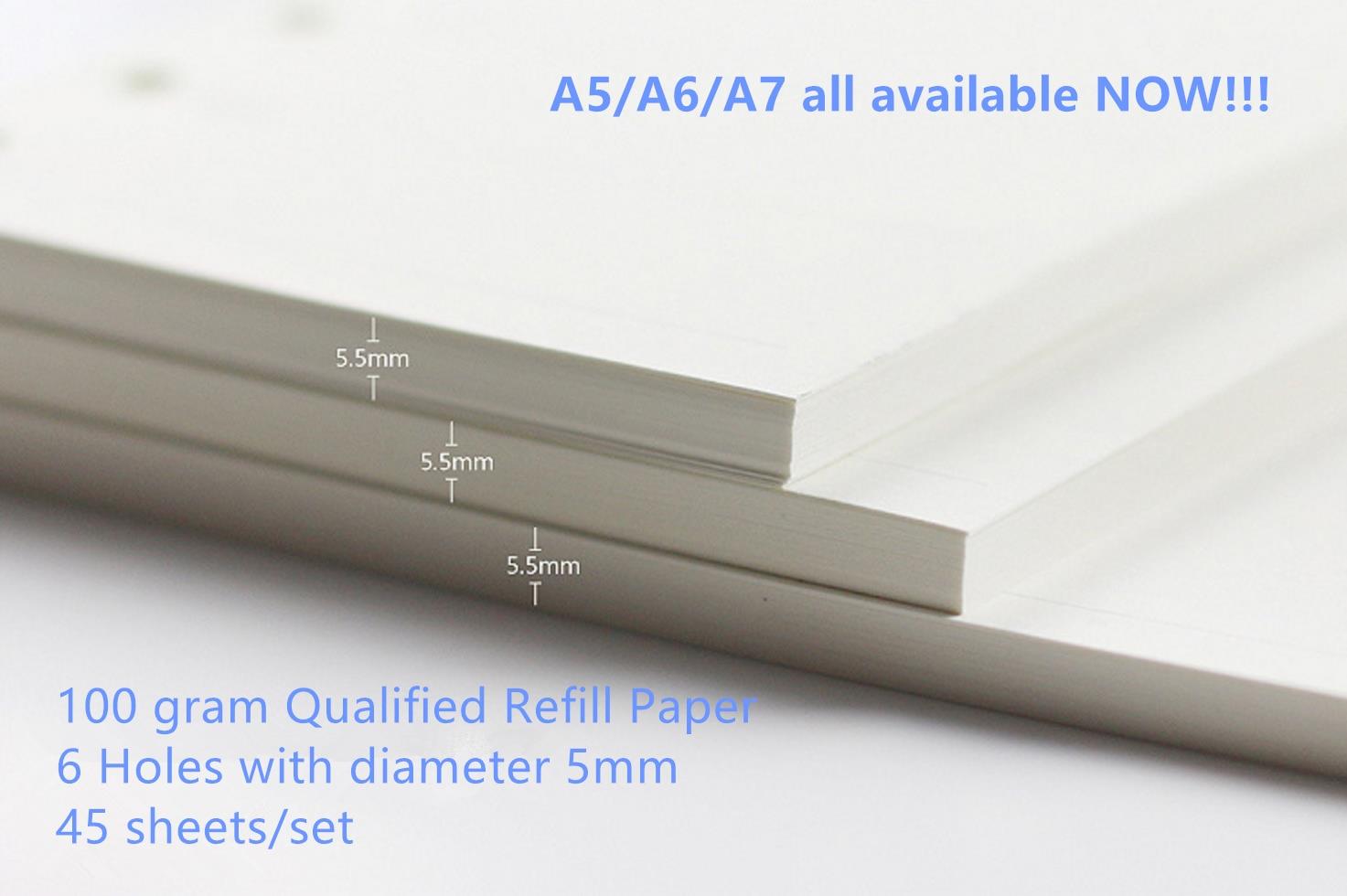 A5 A6 A7 Loose Leaf Notebook Refill Spiral Binder Planner Innersida - Block och anteckningsböcker - Foto 3