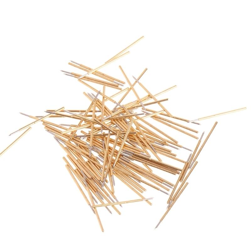 100Pcs/Bag Spring Test Probe Pogo Pin P50-B1 Dia 0.5mm Length 16.35mm p75 b1 spring test probes pogo pins cusp spear head dia 1 02mm 100g for testing tools 100pcs
