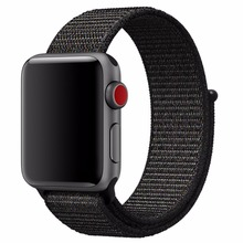 A254 Nylon Sport Loop with Hook and Loop Fastener Adjustable Closure Wrist Strap Replacment Band for iwatch Apple Watch