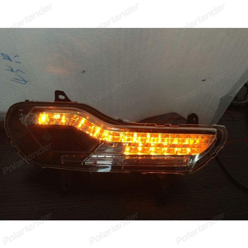 hot selling 1 set car parts For F/ord k/uga Or E/scape 2013-2015 daytime running lights Car styling boomboost 2 pcs car accessory daytime running lights for f ord k uga or e scape 2013 2015 car styling