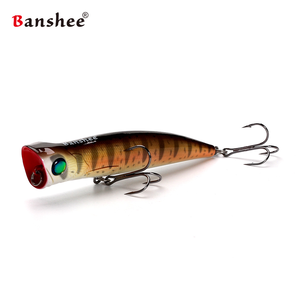 Banshee 115mm 22g Bubble Burst JR VP03 Saltwater Big Top water Fishing Lure GT Tuna Wobbler Popper Artifical Hard Bait
