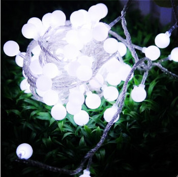 30M New Year Cutton Ball LED Cristams Lights Outdoor Garlands Christams Decoration LED Fairy Lights Guirlande Lumineuse LED