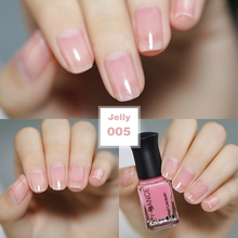 New nail polish color Nude candy fast drying jelly translucent 6ML Environmental protection inpeelable