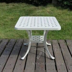 Image 1 - יצוק אלומיניום קפה שולחן עבור גן פנאי חיצוני ריהוט ריהוט גן חיצוני שולחן