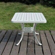 Dökme alüminyum sehpa bahçe eğlence için dış mekan mobilyası bahçe mobilyaları açık masa