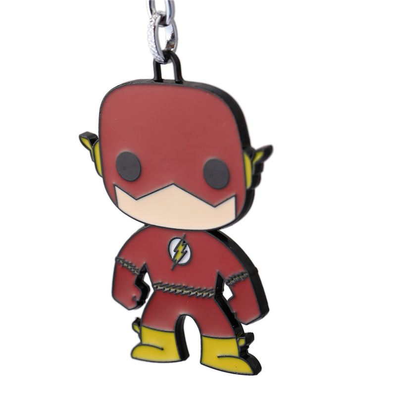J Store for Flash Cartoon Super Hero Zinc Alloy Keychain Կանանց - Նորաձև զարդեր - Լուսանկար 3