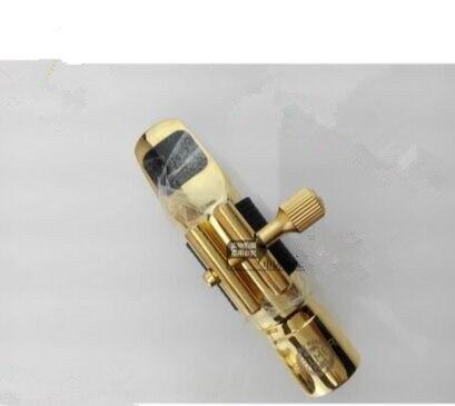 Alto Sax saxofone  bocal de Metal Mouthpiece bocal Patches Pads almofadas Cap Buckle chapeamento de ouro sax collection mp3