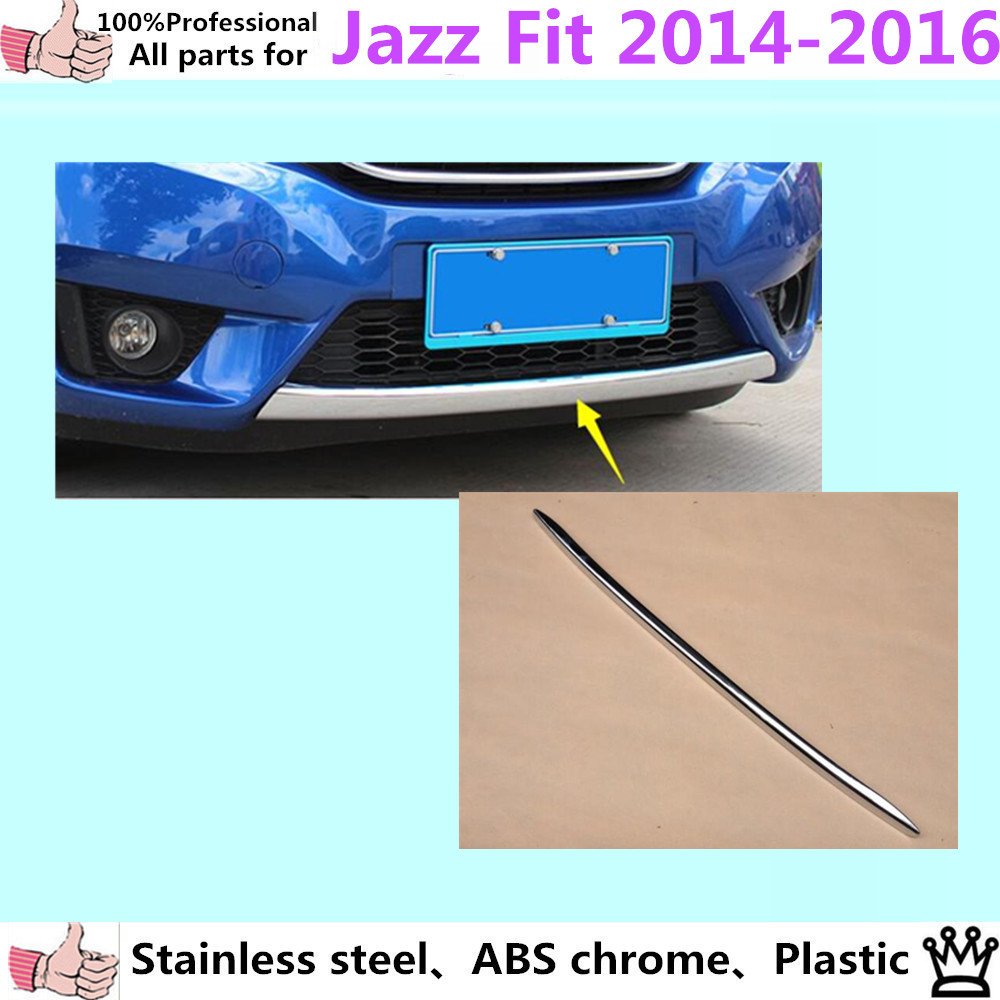 Car body cover Bumper engine ABS Chrome trims Front bottom Grid Grill Grille Around edge 1pcs for Honda FIT JAZZ 2014 2015 2016 car styling cover bumper engine abs chrome trim bottom front grid grill grille edge lamp frame panel 1pcs for vw aud1 a4l 2017