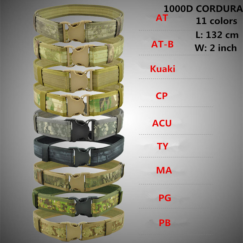 Military Tactical Duty Shooter Utility 1000D CORDURA Web Belt Hunting Airsoft Paintball outdoor CS sports waistband