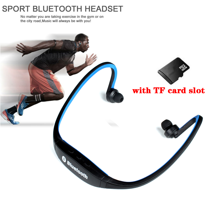 DAONO <font><b>S9</b></font> Wireless <font><b>Headphones</b></font> <font><b>Bluetooth</b></font> Sport Music Stereo Earphones Microphone+Micro SD Card Slot image