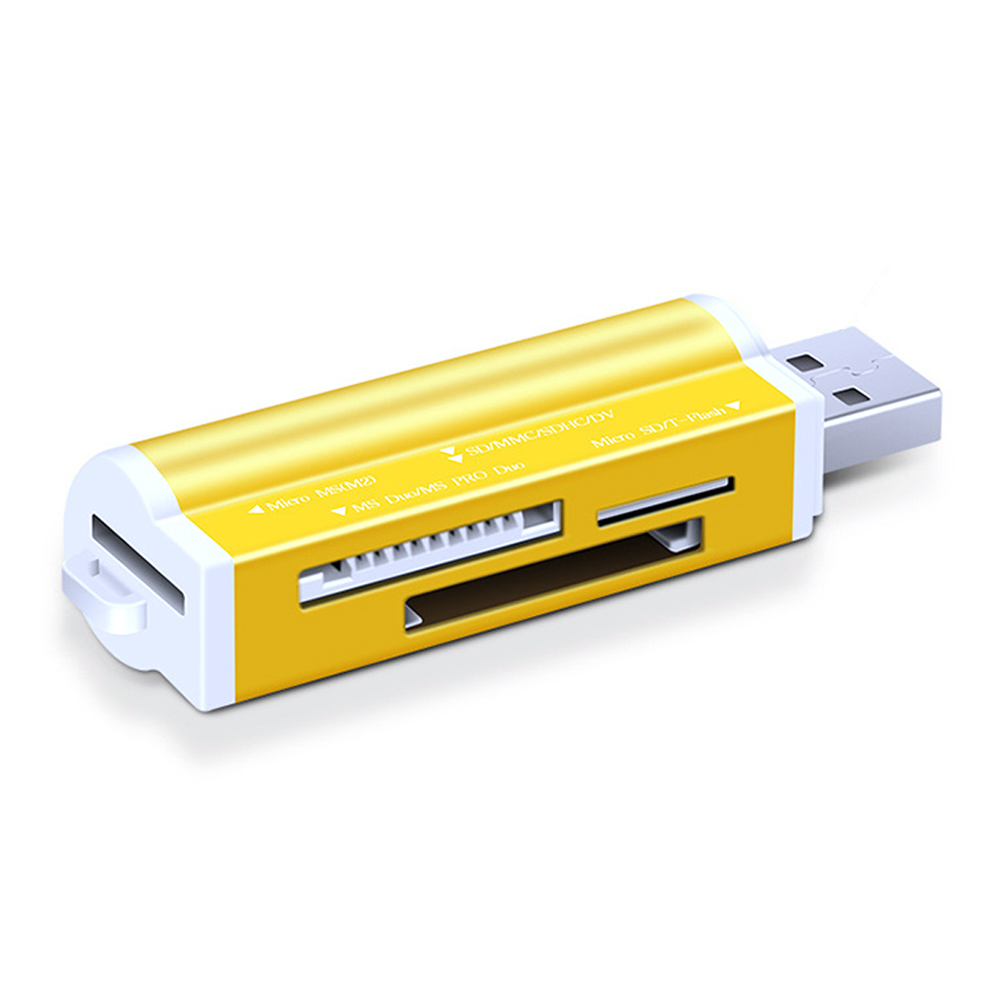 USB 2.0 Portable Lightweight Multifunctional Aluminum Alloy /TF Stable High Speed Card Reader All In 1 Adapter