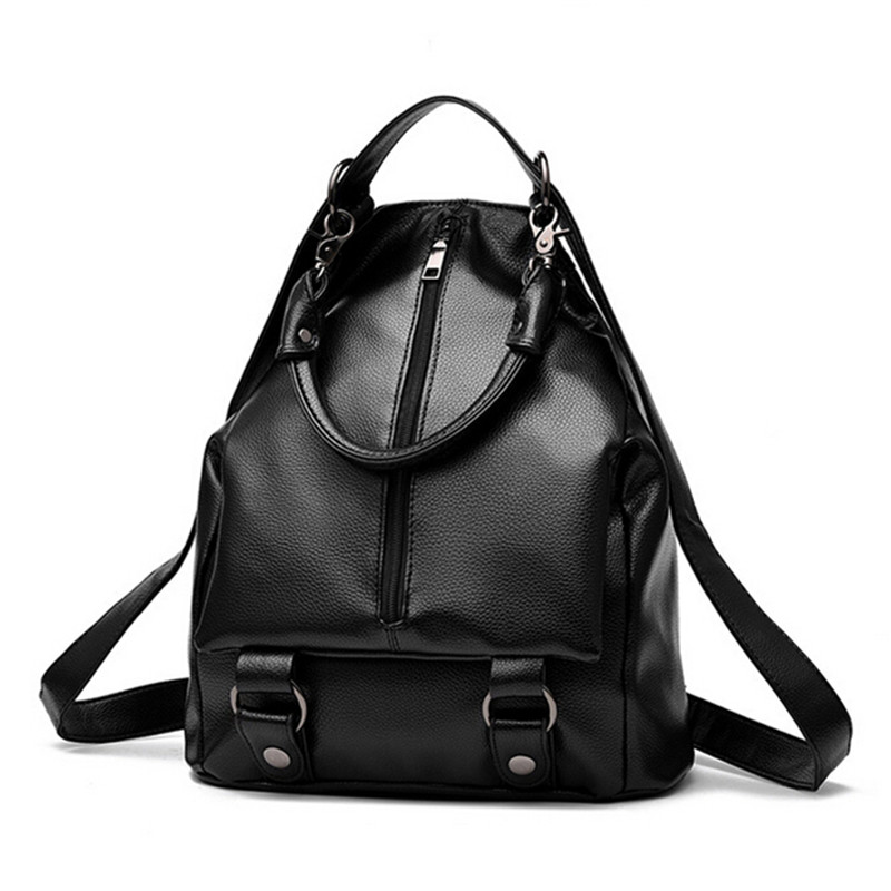 COOL WALKER New Fashion PU women leather backpack school bag female travel bags  vintage casual backpacks Mochila Feminina vintage casual leather travel bags famous brand school backpacks women bag mochila backpack lovely girls school bags ladies bag
