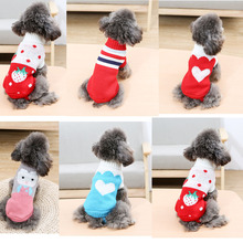 Dog Sweater 11 Style Knit Cute Puppy Coat Knitting Pet Cat Sweaters Pullover Dachshund Knitted #4-16