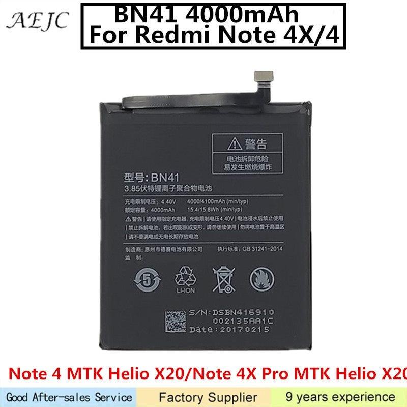 4100 mah Batteria Per Xiaomi Redmi Nota 4 Batteria Nota 4X Pro MTK Helio X20 4 gb di RAM Per Redmi nota 4X Batterie Ai Polimeri di Litio4100 mah Batteria Per Xiaomi Redmi Nota 4 Batteria Nota 4X Pro MTK Helio X20 4 gb di RAM Per Redmi nota 4X Batterie Ai Polimeri di Litio