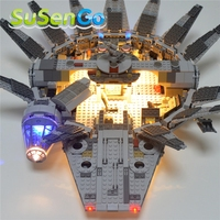 SuSenGo Only Led Light For 05007 Up Kit For Star Wars Millennium Falcon Building Block Marvel