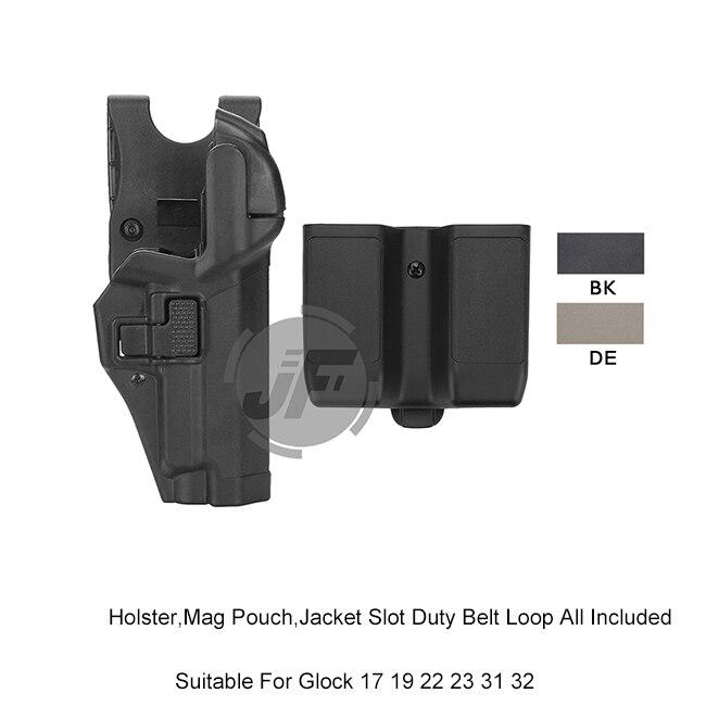 Serpa Level 3 Auto Lock Right Hand Waist Pistol Holster w Jacket Slot Duty Belt Loop