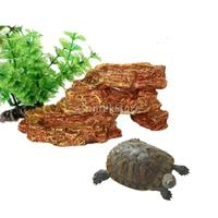 Reptile Vivarium Terrarium Rock Decoratie Hars Voerbak hagedis Gecko Water Worm Feeder