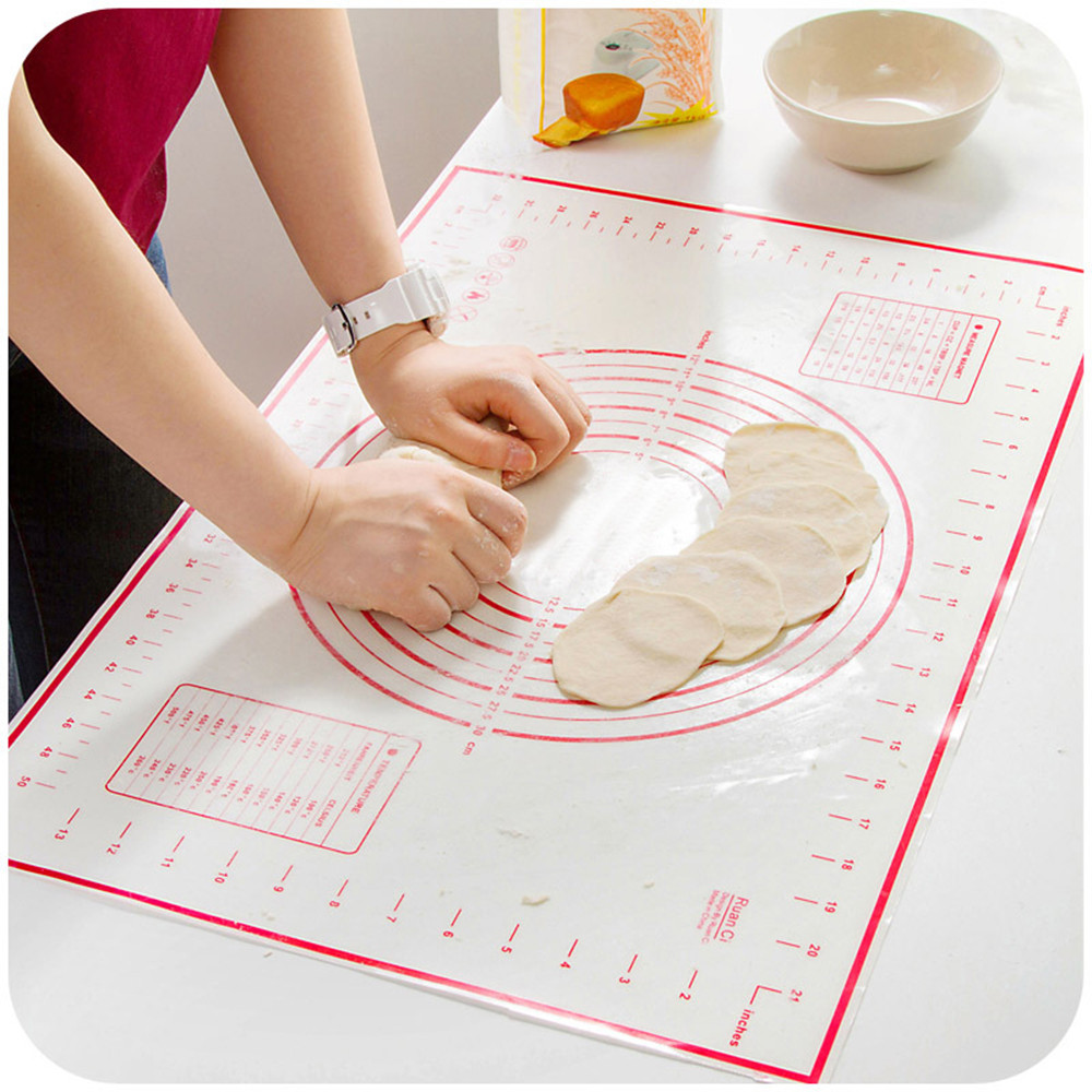 Hot Fiberglass Silicone Dough Rolling Baking Mat Pastry Clay Pad Sheet Liner FC Mat With Calibration High Temperature Resistant
