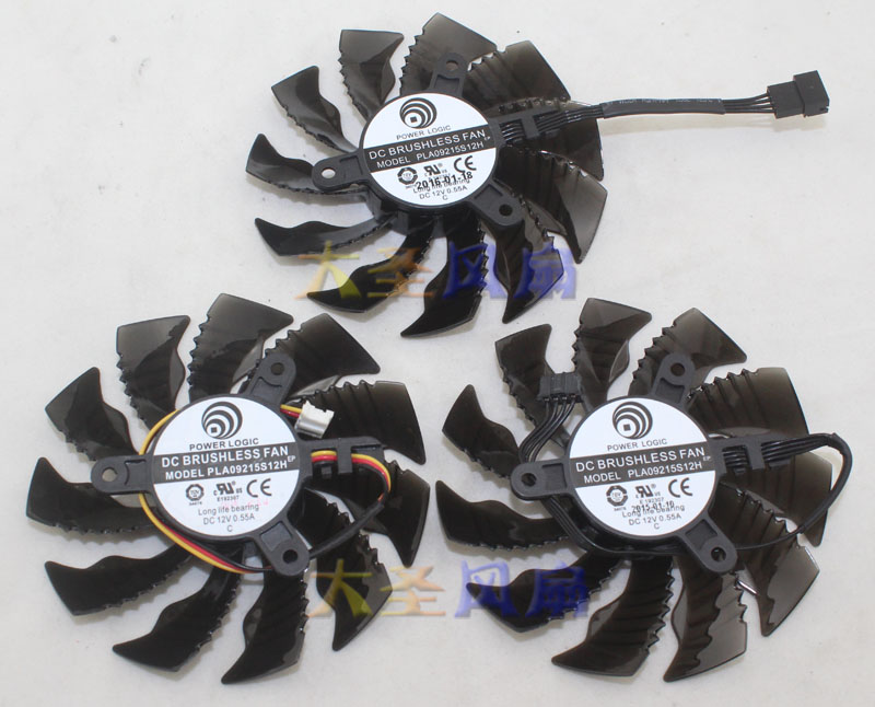 Original for Gigabyte GTX960 Mini-ITX GTX970 graphics card cooling fan PLA09215S12H 3 wire 4 wire new original bp31 00052a b6025l12d1 three wire projector fan