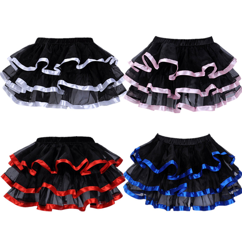 Elastic Petticoat Gothic Women Skirt Petticoat Burlesque Mesh Sexy Micro Mini Tutu Skirt Ladies Performance Steampunk Skirts