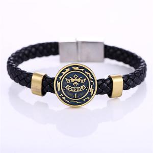 Косплей ювелирные изделия MJ горячие аниме HITMAN REBORN медные браслеты Vongola Famiglia плетеный кожаный браслет и браслет