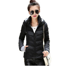 Winter Jacket Women Parka Thick Winter Outerwear Plus Size Down Coat Short Hooded Design Cotton-padded Jacket And Coat MZ431g