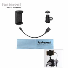 Fantaseal DSLR Camera Hot Shoe Smartphone Mount Monitor Mount w/ Cellphone Clip OTG USB Cable for Nikon Canon Sony Olympus ect