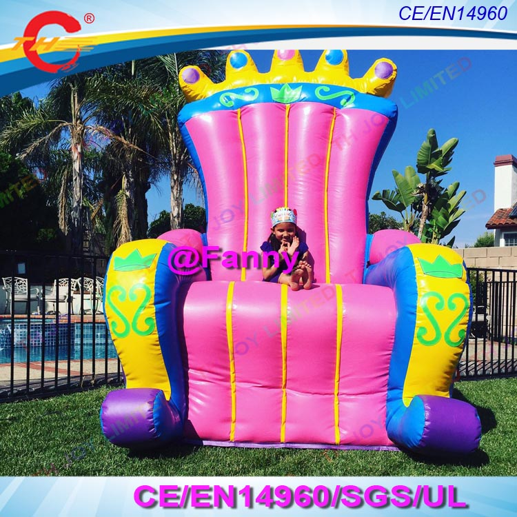 Inflatable Kids Birthday Chair: Free Shipping Commercial Inflatable Throne Chair For King