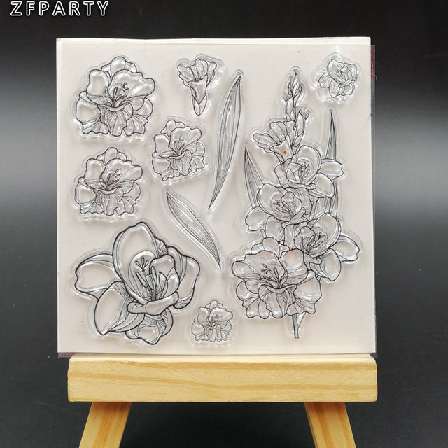 DIY Flowers Leaves Beautiful Flowers Floral Wisteria Clear Stamps for Card Making Decoration and DIY Scrapbooking Tools