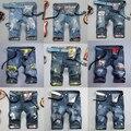 28-38 hombres de gran tamaño de estilo denim short jeans pantalones cortos de verano hombres de la manera de los hombres delgados pantalones de algodón distrressed DC620