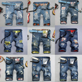 28-38 homens de grande porte shorts jeans verão jeans estilo curto dos homens moda slim calças de algodão dos homens distrressed DC620