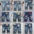 28-38 large size men jeans shorts summer style denim short men fashion slim men's trousers   cotton distrressed DC620