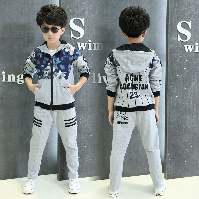 2016 brand new boys clothes set kids sports suit children tracksuit boy sweatshirt pants gogging casual baby boy clothes kids hip hop clothing autumn new boys kids suit children tracksuit boys long shirt pants sweatshirt casual clothes 2 color