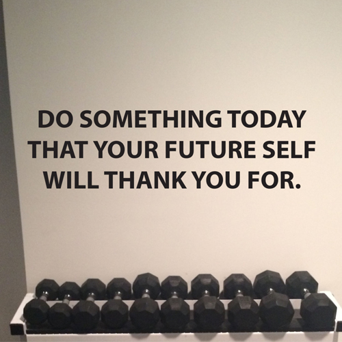 Inspirational Wall Decal Quote, Do Something Today That Your Future Self Will Thank You For Home Decor Living Room