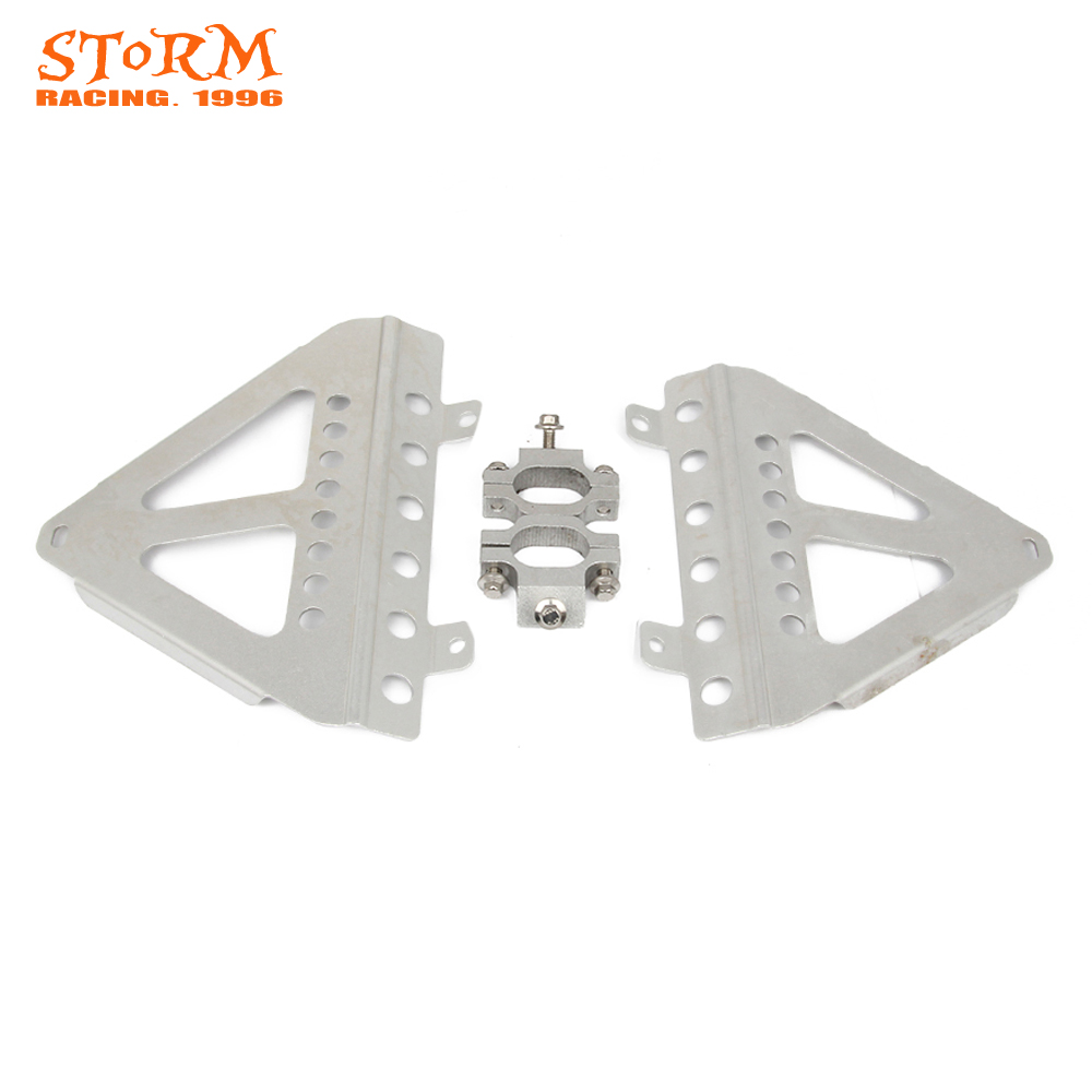 Motorcycle Radiator Cooler Guard Bracket Protection For Honda CRF250R CRF 250R 2014 2015 2016 CRF450R CRF 450R 2013 2014 for honda crf 250r 450r 2004 2006 crf 250x 450x 2004 2015 red motorcycle dirt bike off road cnc pivot brake clutch lever