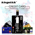 Kingstick USB2.0 металл usb flash drive Мода кредитная карта модель флешки 4 ГБ 8 ГБ 16 ГБ 32 ГБ 64 ГБ памяти ручка привода freeshipping