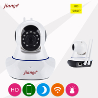 Jiange 720P HD Wireless IP Camera Night Vision Mini Wifi CCTV Camera Smartphone Remote View Multi