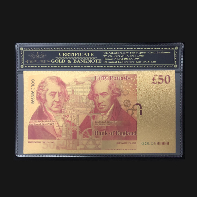 Hot Style 1PCS 24K Gold Foil Banknotes $100 Home Decor Collections Gifts