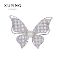 Xuping Elegant Synthetic CZ Diverse Styles Pearl Brooch for Mother's day Gift 2017 New 00086-16#