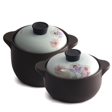 New Arrival Azaleas Enameled Ceramic Soup Pots Stewpot Stewing Casserole Big Deal Saucy Cooking Pot Cookware