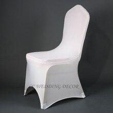 Awillhome доставка free50 шт спандекс белый стул охватывает хорошее качество для украшения венчания в России склад