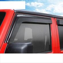 цена на lsrtw2017 ppma car window rain shield for jeep wrangler JK 2007 2008 2009 2010 2011 2012 2013 2014 2015 2016 2017